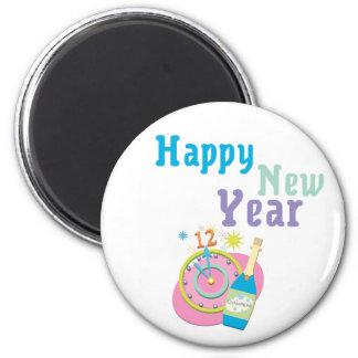 Feliz Año Nuevo Imán Redondo 5 Cm