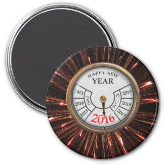 ¡Feliz Año Nuevo! - Imán Redondo 7 Cm