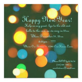 Feliz Año Nuevo Invitación 13,3 Cm X 13,3cm