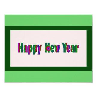 """Feliz Año Nuevo Invitación 4.25"""" X 5.5"""""""