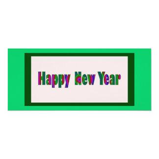 """Feliz Año Nuevo Invitación 4"""" X 9.25"""""""