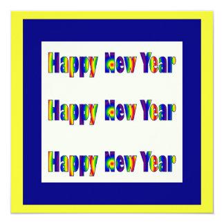 """Feliz Año Nuevo Invitación 5.25"""" X 5.25"""""""