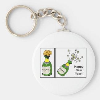 ¡Feliz Año Nuevo! Llavero Redondo Tipo Pin