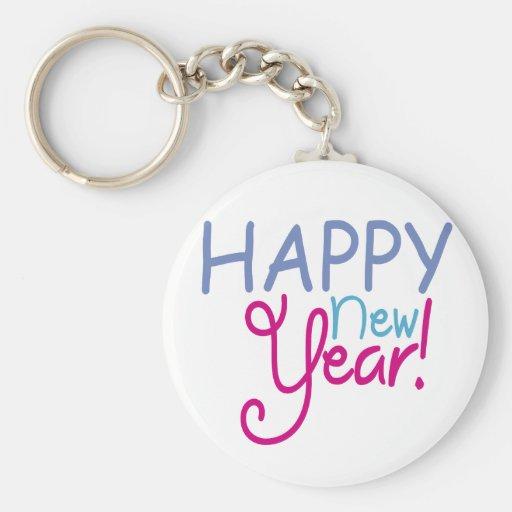 Feliz Año Nuevo Llaveros Personalizados