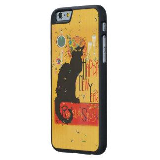 Feliz Año Nuevo Noir de la charla Funda De iPhone 6 Carved® De Arce