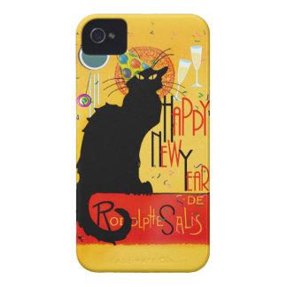 Feliz Año Nuevo Noir de la charla Case-Mate iPhone 4 Fundas