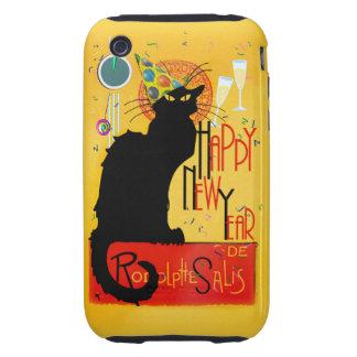 Feliz Año Nuevo Noir de la charla Tough iPhone 3 Funda