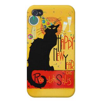 Feliz Año Nuevo Noir de la charla iPhone 4 Cárcasa