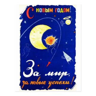 Feliz Año Nuevo para la paz Tarjetas Postales