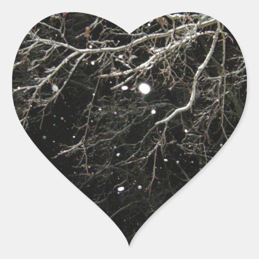 Feliz Año Nuevo Pegatina En Forma De Corazón