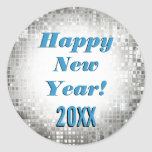 ¡Feliz Año Nuevo! Pegatinas frescos el chispear Etiquetas Redondas
