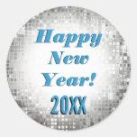 ¡Feliz Año Nuevo! Pegatinas frescos el chispear Pegatina Redonda