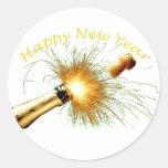 Feliz Año Nuevo Pegatinas Redondas