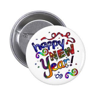 Feliz Año Nuevo Pin Redondo 5 Cm