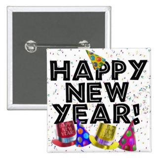 ¡FELIZ AÑO NUEVO! PIN CUADRADO