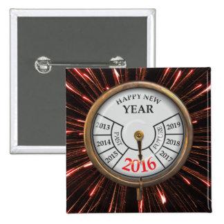 ¡Feliz Año Nuevo! - Pin Cuadrado