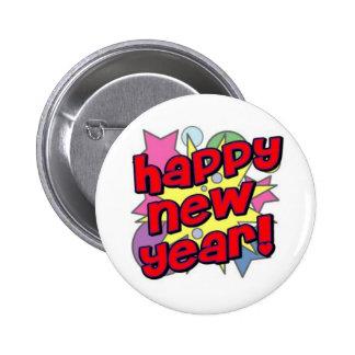 ¡Feliz Año Nuevo! Pin Redondo De 2 Pulgadas