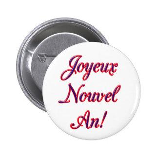 Feliz Año Nuevo Pin Redondo De 2 Pulgadas