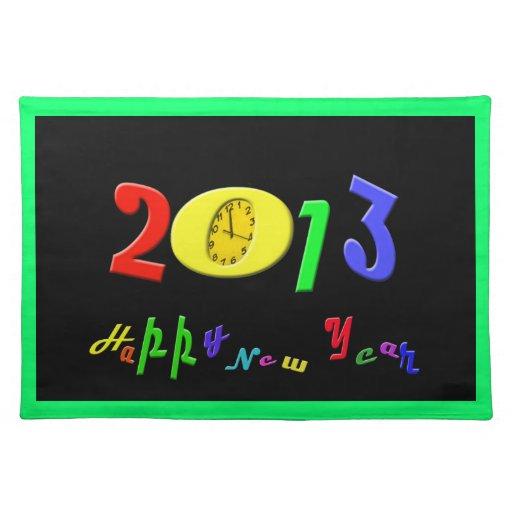 Feliz Año Nuevo Placemats Manteles Individuales