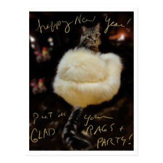 ¡Feliz Año Nuevo!  ¡Ponga sus trapos y fiesta aleg Tarjetas Postales