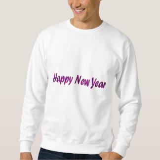 Feliz Año Nuevo púrpura Sudadera