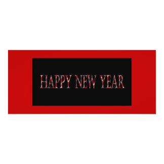 """Feliz Año Nuevo roja Invitación 4"""" X 9.25"""""""