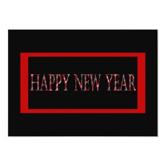 """Feliz Año Nuevo roja Invitación 5"""" X 7"""""""