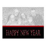 Feliz Año Nuevo roja Tarjetas Postales