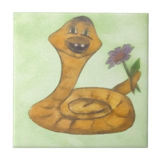 Feliz Año Nuevo, serpiente Azulejo Cuadrado Pequeño