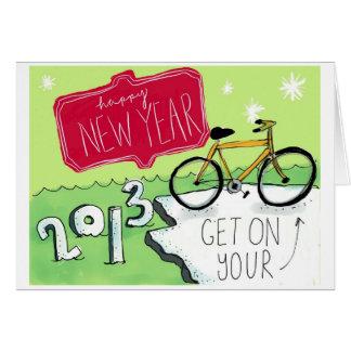 Feliz Año Nuevo Tarjeta Pequeña