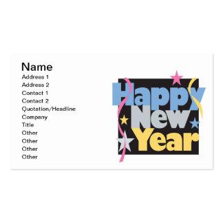 Feliz Año Nuevo Tarjetas De Visita