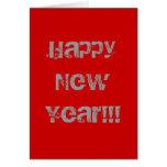 ¡Feliz Año Nuevo!!! Tarjeta De Felicitación