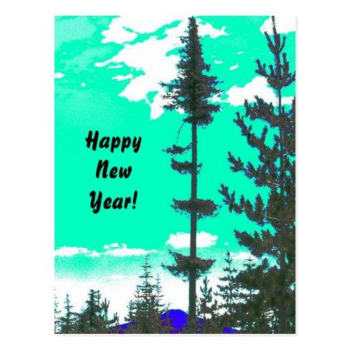 Feliz Año Nuevo Tarjeta Postal
