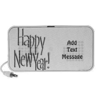 Feliz Año Nuevo - texto de plata (añada sus iPod Altavoces