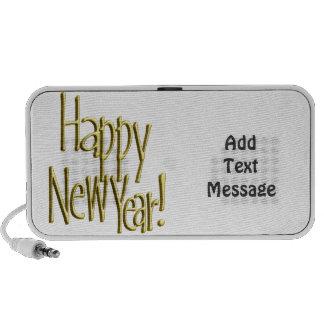 Feliz Año Nuevo - texto del oro (añada el color de iPod Altavoces