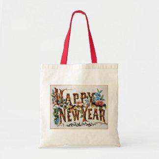 ¡Feliz Año Nuevo! - Tote del presupuesto Bolsa Tela Barata