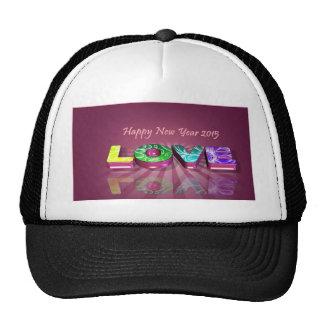 Feliz Año Nuevo y amor Gorra