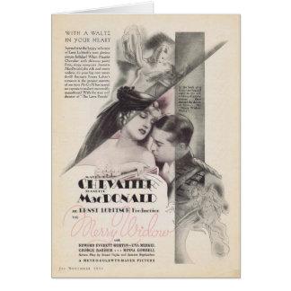 Feliz anuncio 1934 de la película de la viuda de J Tarjeta De Felicitación
