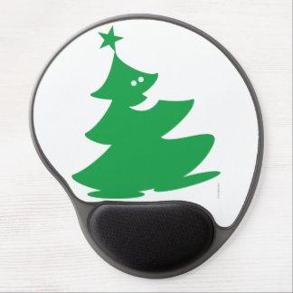 Feliz árbol de navidad alfombrilla con gel
