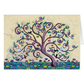 Feliz árbol de navidad de la vida tarjeta de felicitación
