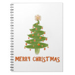 Feliz árbol de navidad libro de apuntes con espiral