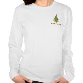 Feliz árbol de navidad camiseta