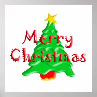 Feliz árbol de navidad póster