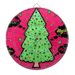Feliz árbol de navidad tabla dardos