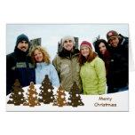 Feliz árbol de navidad tarjeta