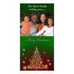 Feliz árbol de navidad tarjetas personales con fotos