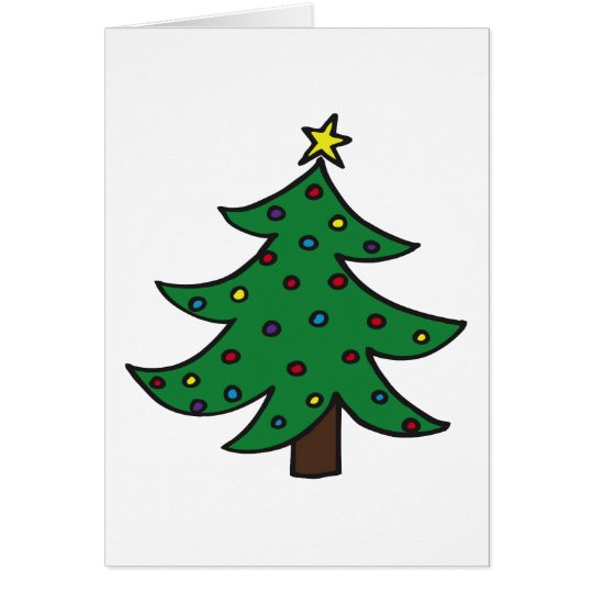 Feliz árbol de navidad tarjeta de felicitación