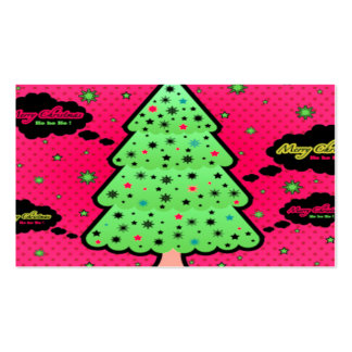 Feliz árbol de navidad tarjetas de visita