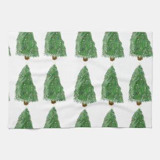 feliz árbol de navidad toalla de cocina