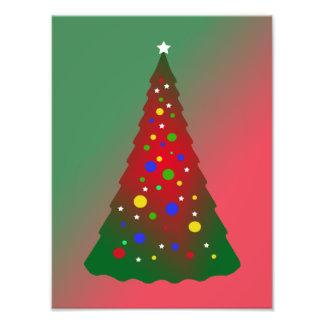 Feliz árbol de navidad verde rojo cojinete